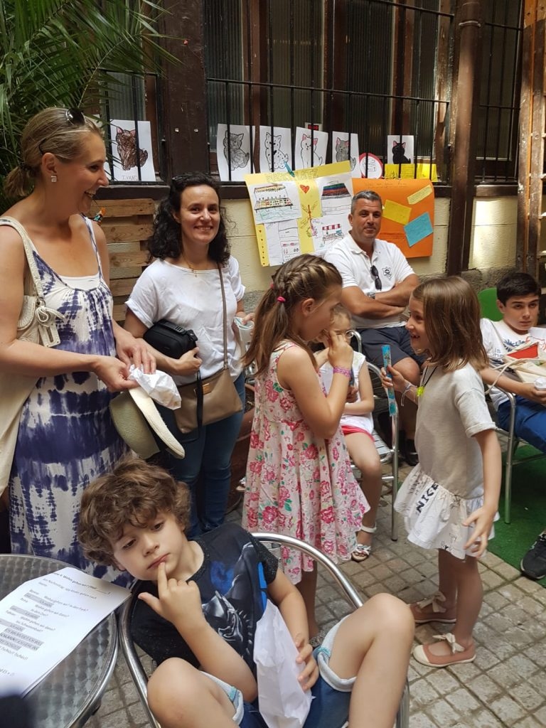Un momento de la fiesta infantil de alemán de TANDEM Madrid