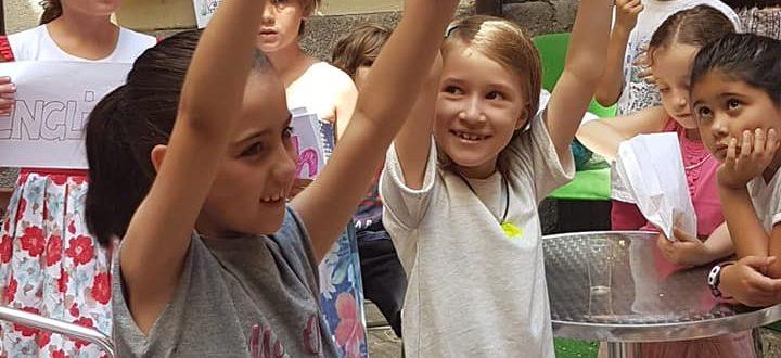 En la fiesta infantil de alemán de fin de curso de TANDEM Madrid los niños mostraron cómo aprenden.